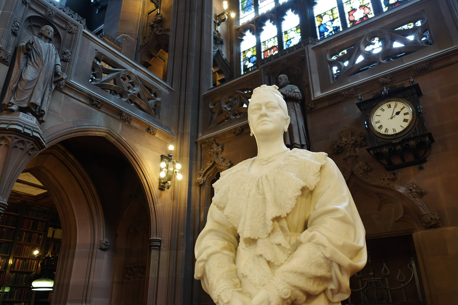 john-rylands-library-in manchester uk by helen on her holiday