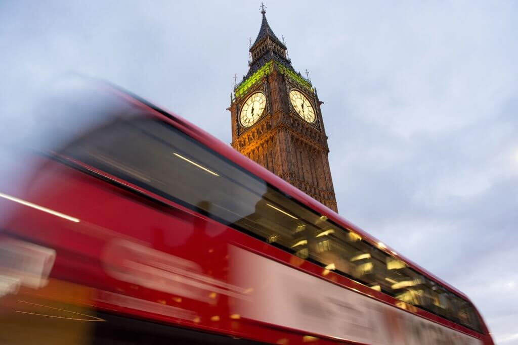 Double Decker Bus and Big Ben