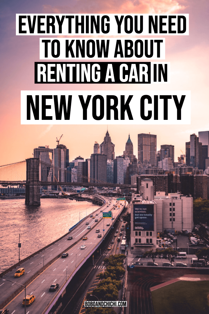 renting a car in NYC