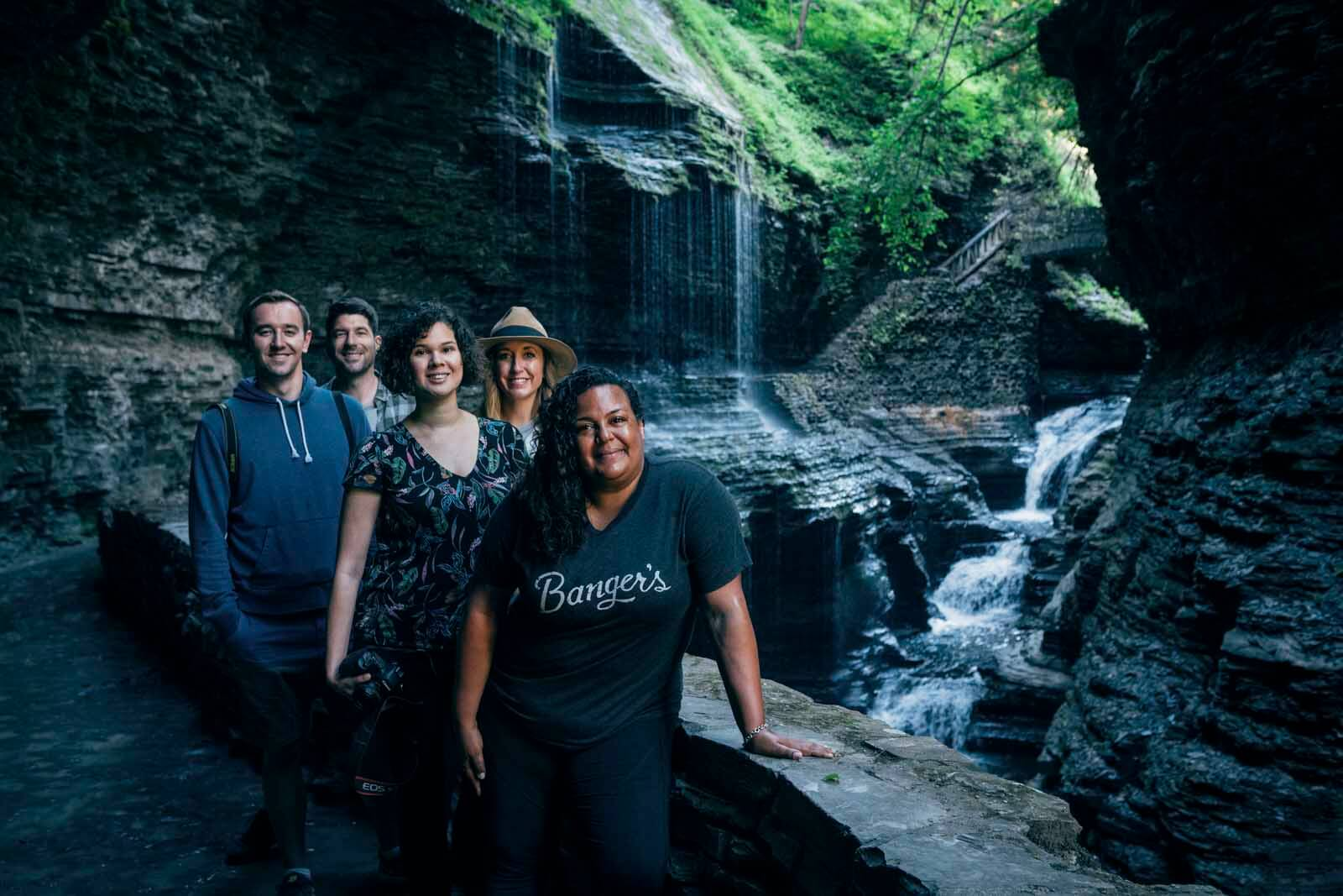 The blogging crew at Watkins Glen State Park