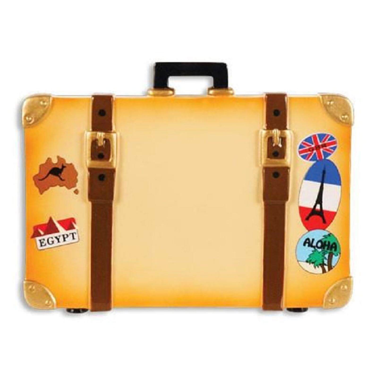 personalized travel trunk ornament