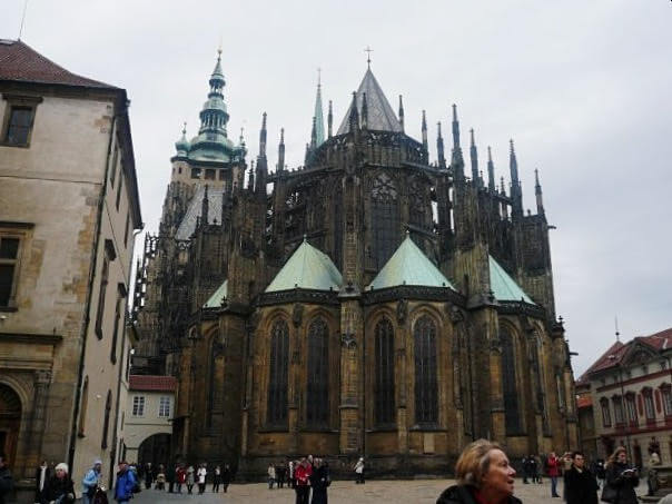 Prague castle from up close