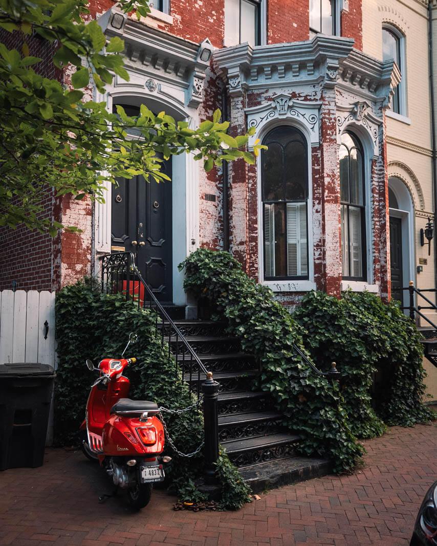 pretty home scene in Georgetown Washington DC
