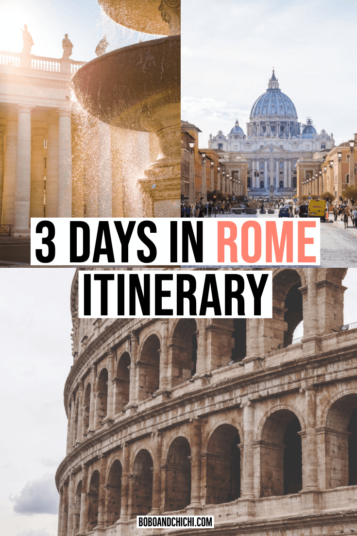 How to spend 3 days in Rome itinerary
