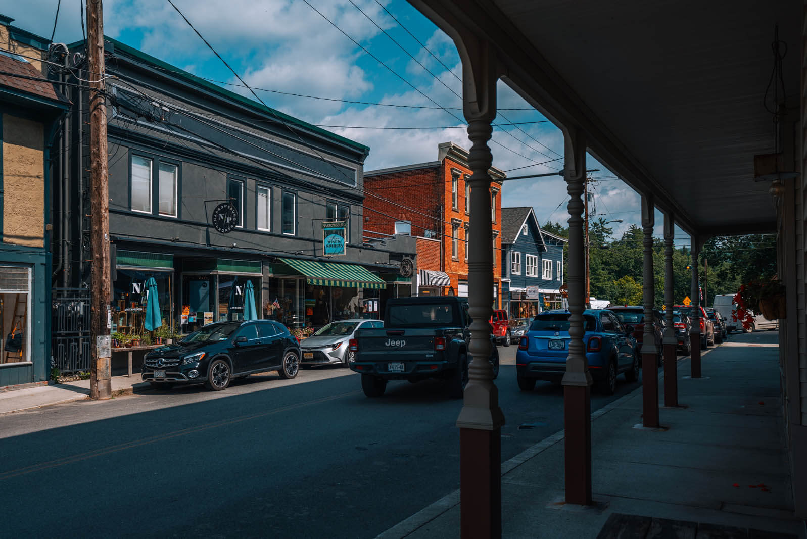 shops in downtown Narrowsburg New York in the Catskills