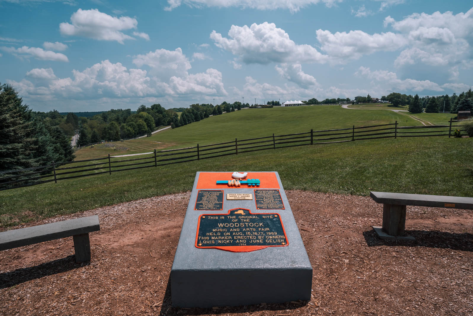 site of Woodstock music festival in Bethel New York