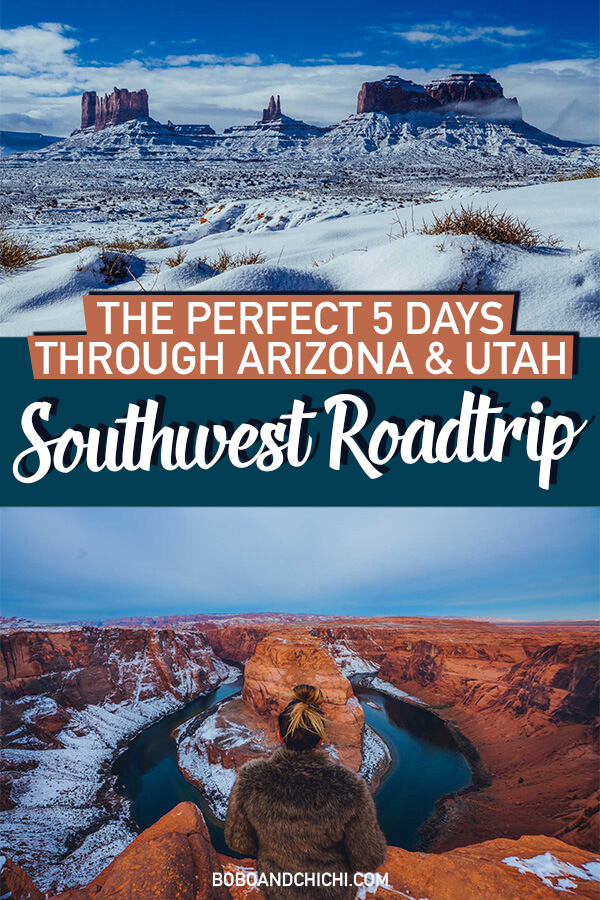 5 Day Southwest Roadtrip itinerary
