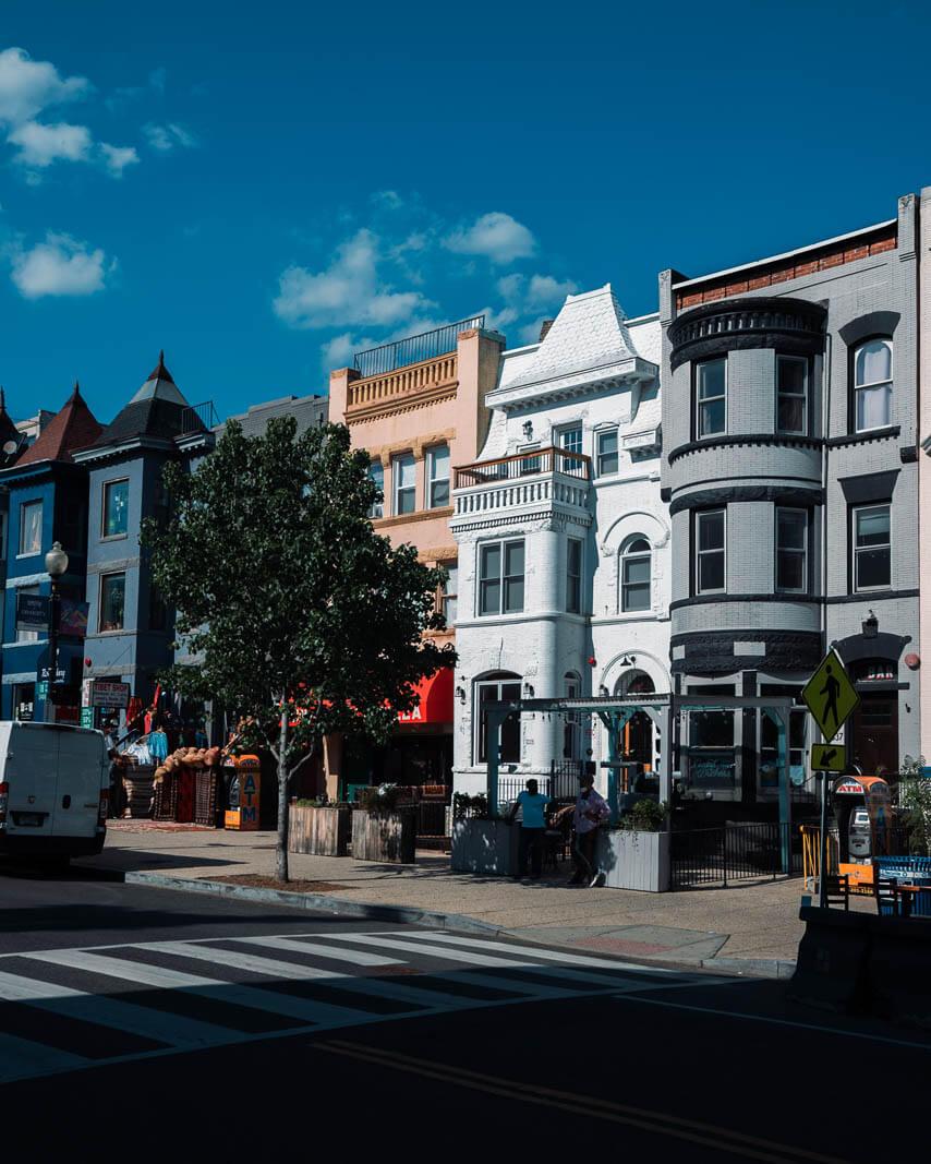 strolling around Adams Morgan in Washington DC