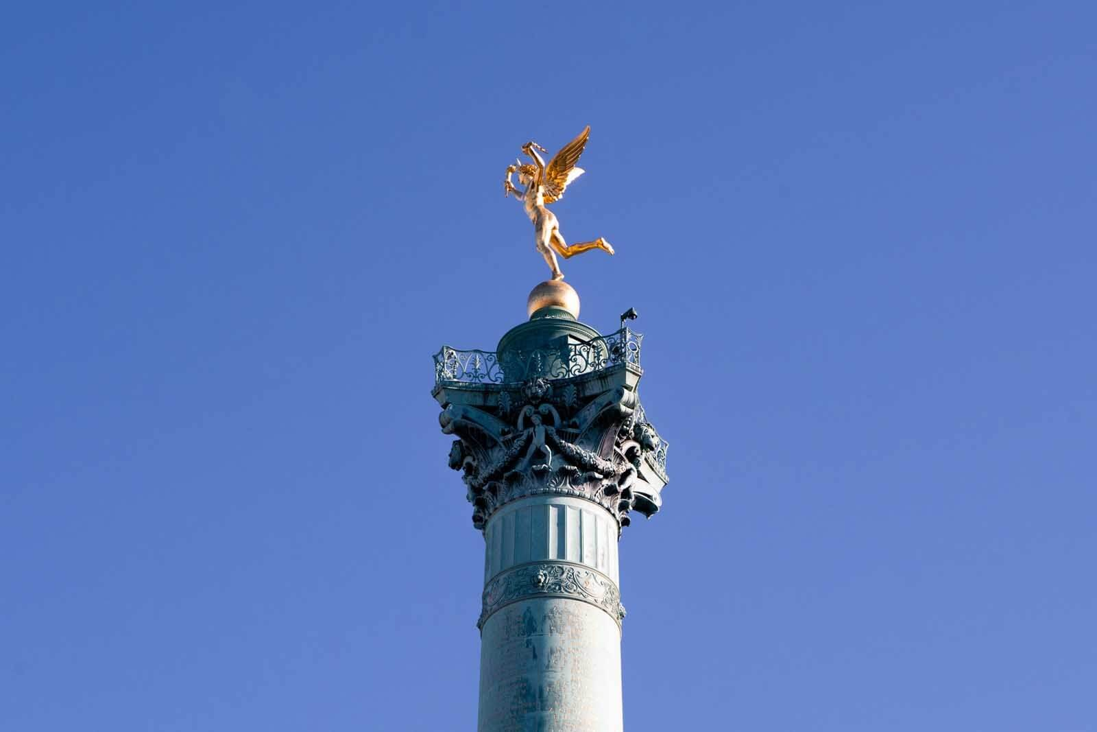 Top of the Bastille Monument in Paris