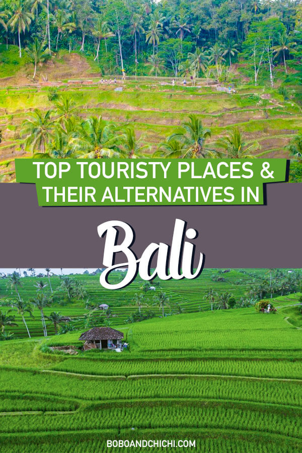 Here are all the top touristy attractions in Bali AND their alternatives!