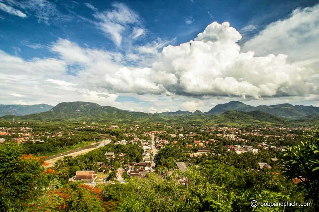 Panoramic views from Mount Phou Si | Things to Do in Luang Prabang