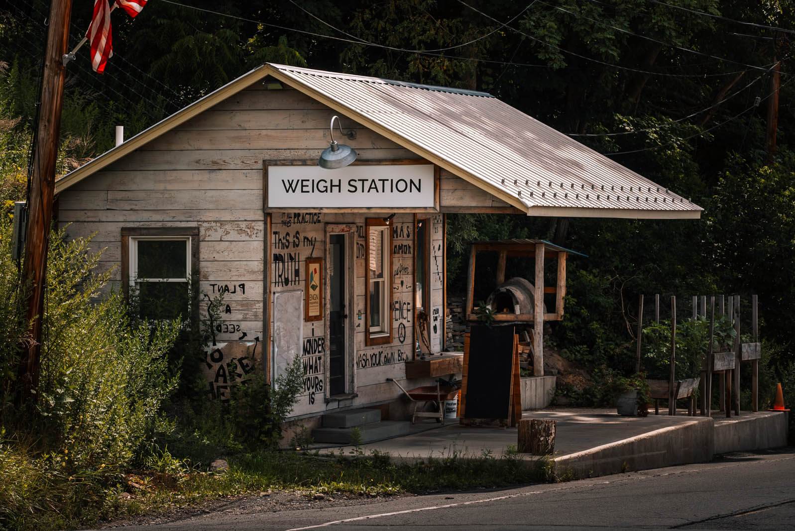 weigh station in Callicoon New York in the catskills